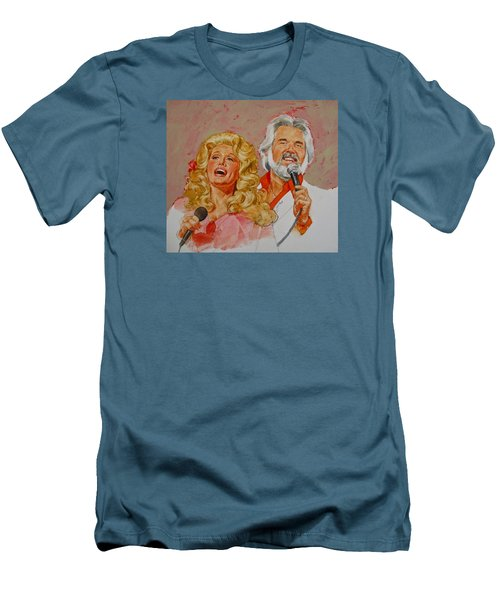 Its Country - 8  Dolly Parton Kenny Rogers Men's T-Shirt (Athletic Fit)