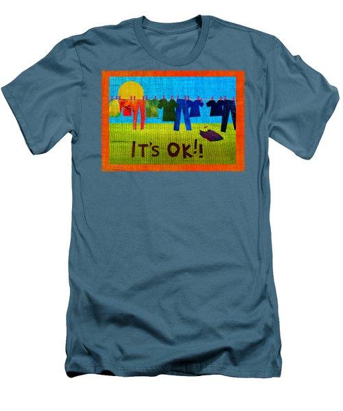 Ok Transparent Men's T-Shirt (Athletic Fit)