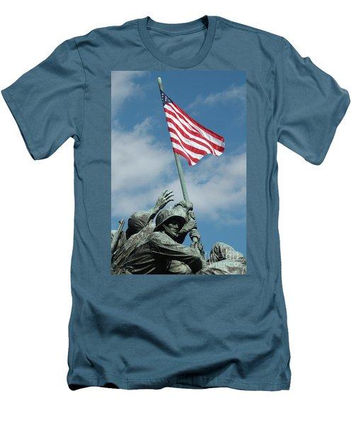 Iwo Jima Memorial Men's T-Shirt (Athletic Fit)