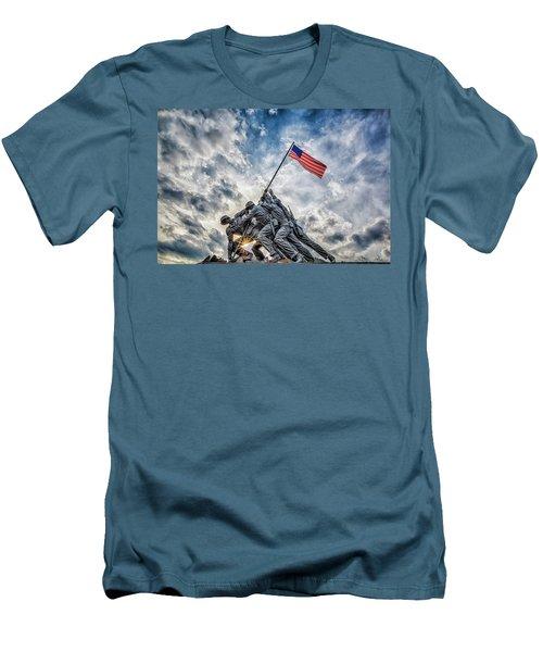 Iwo Jima Memorial Men's T-Shirt (Slim Fit) by Susan Candelario