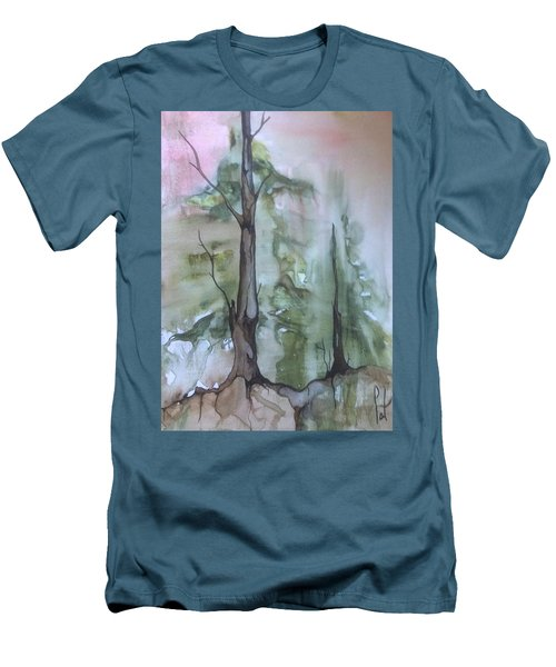Men's T-Shirt (Slim Fit) featuring the painting Jackfish Lake by Pat Purdy