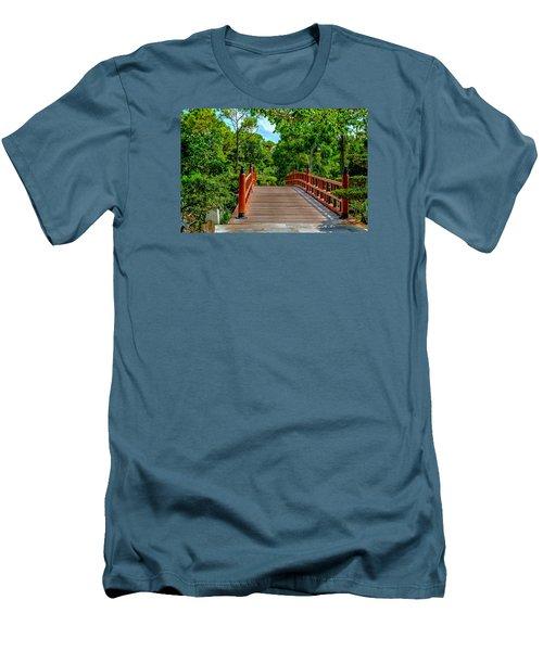 Japanese Bridge  Men's T-Shirt (Slim Fit) by Louis Ferreira