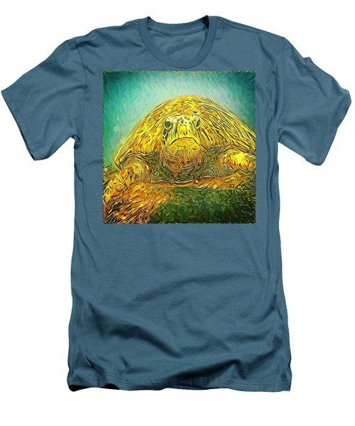 Jasmine The Turtle Men's T-Shirt (Slim Fit) by Erika Swartzkopf