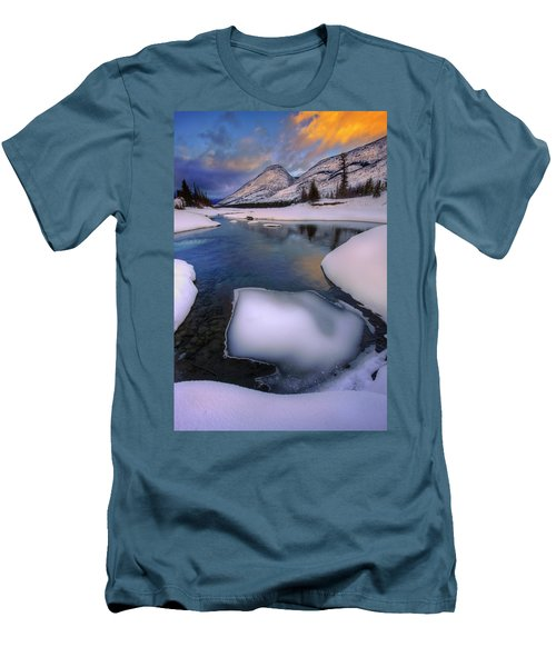 Men's T-Shirt (Slim Fit) featuring the photograph Jasper In The Winter by Dan Jurak