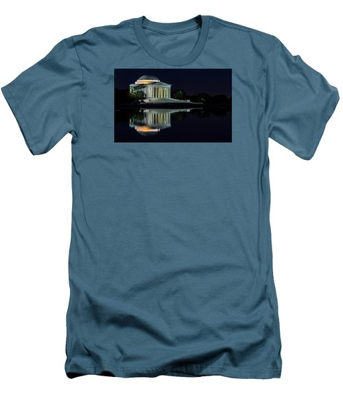 The Jefferson At Night Men's T-Shirt (Slim Fit) by Ed Clark