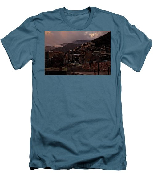 Men's T-Shirt (Slim Fit) featuring the photograph Jerome On The Edge Of Sunrise by Ron Chilston