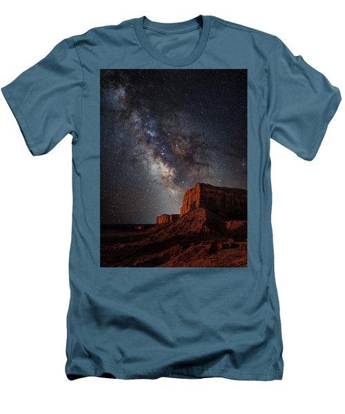 John Wayne Point Men's T-Shirt (Slim Fit) by Darren White