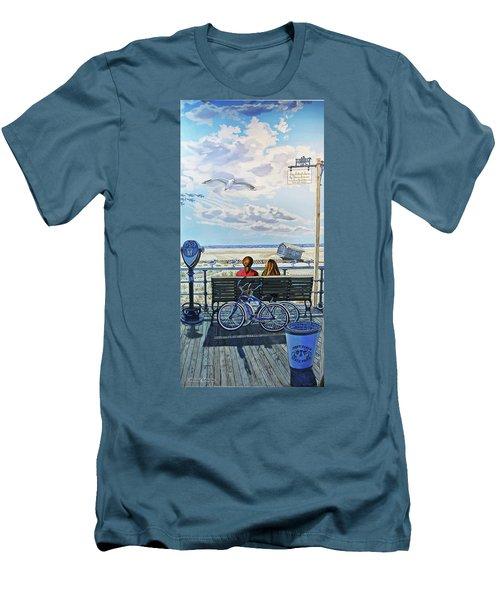 Jones Beach Boardwalk Towel Version Men's T-Shirt (Athletic Fit)