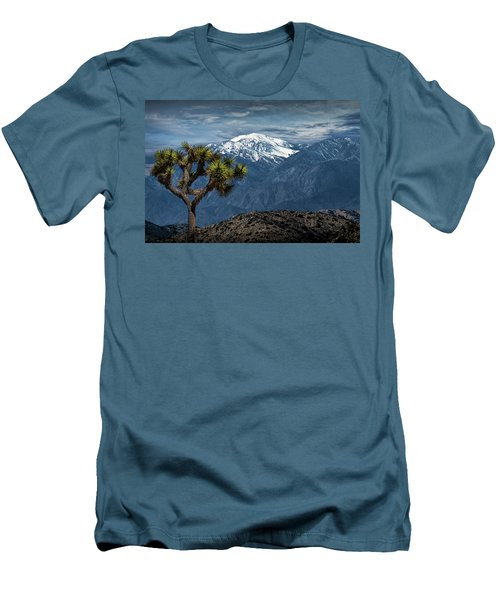 Men's T-Shirt (Slim Fit) featuring the photograph Joshua Tree At Keys View In Joshua Park National Park by Randall Nyhof