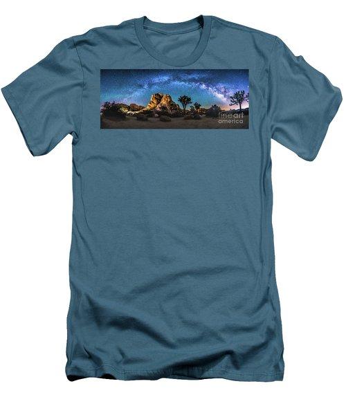 Joshua Tree Milkyway Men's T-Shirt (Slim Fit) by Robert Loe