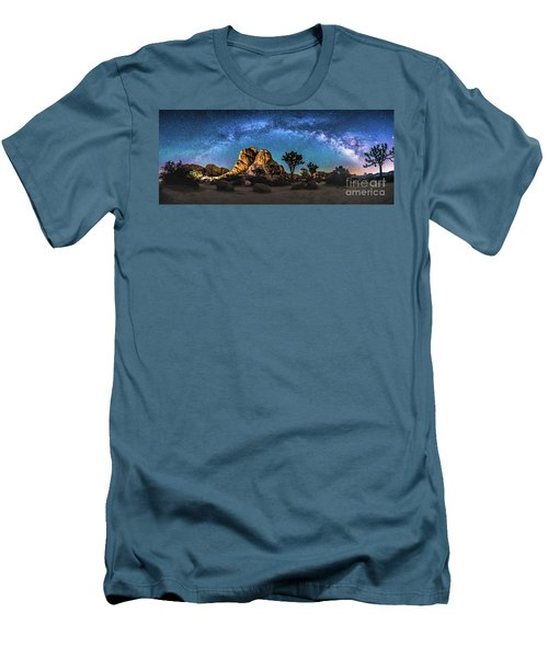 Joshua Tree Milkyway Men's T-Shirt (Athletic Fit)