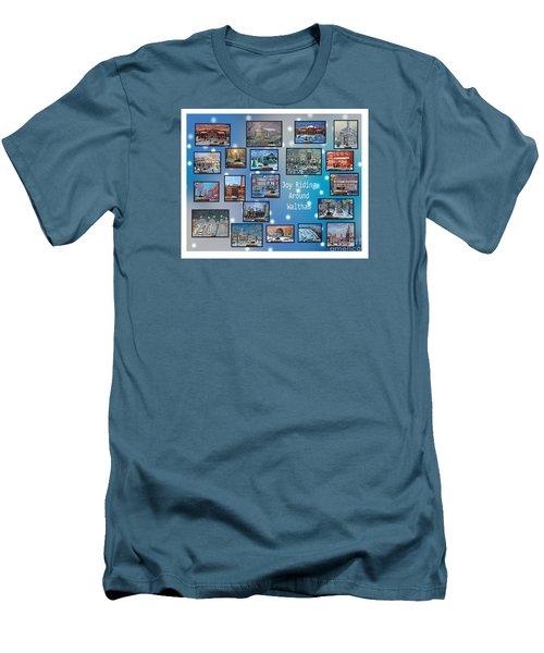 Joy Riding Around Waltham Men's T-Shirt (Slim Fit) by Rita Brown
