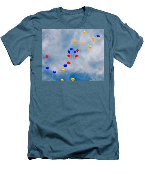 Julian Assange Balloons Men's T-Shirt (Athletic Fit)