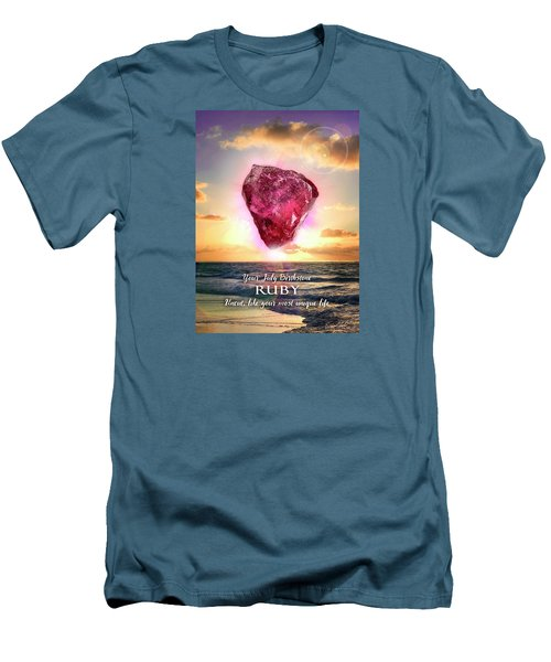 July Birthstone Ruby Men's T-Shirt (Athletic Fit)