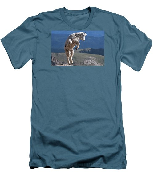 Men's T-Shirt (Slim Fit) featuring the photograph Jump by Gary Lengyel