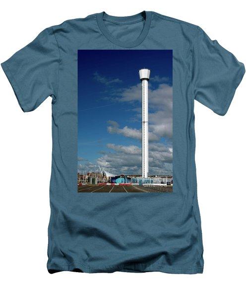 Jurassic Skyline Tower Men's T-Shirt (Slim Fit) by Baggieoldboy