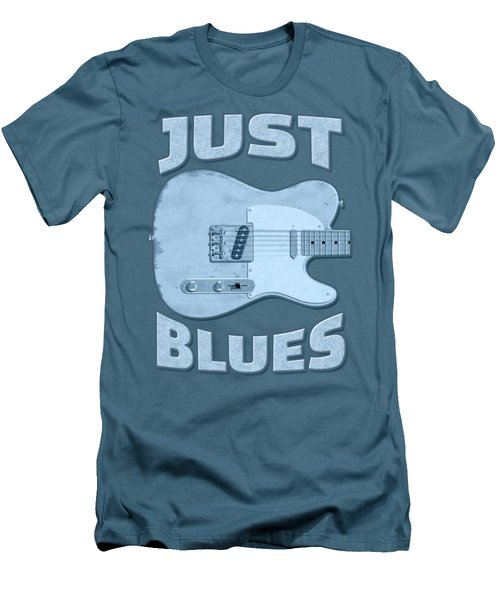 Just Blues Shirt Men's T-Shirt (Athletic Fit)