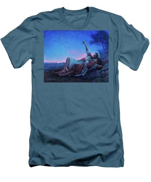 Men's T-Shirt (Slim Fit) featuring the painting Just For A Moment by Greg Olsen