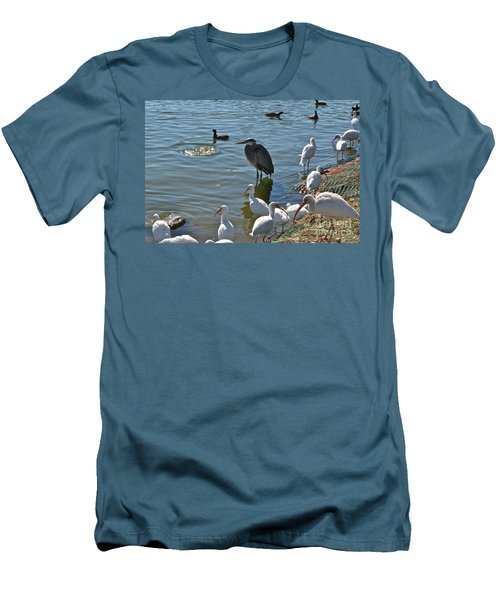 Men's T-Shirt (Slim Fit) featuring the photograph Just Me And A Few Friends by Carol  Bradley