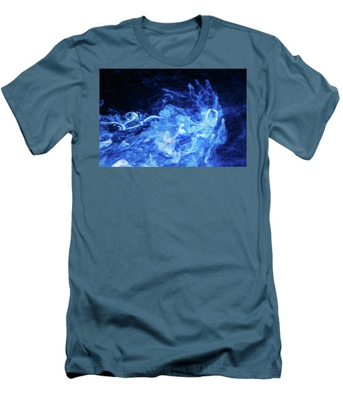 Just Passing By - Blue Art Photography Men's T-Shirt (Athletic Fit)