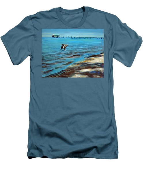 Men's T-Shirt (Slim Fit) featuring the painting Just Passing By by Suzanne McKee