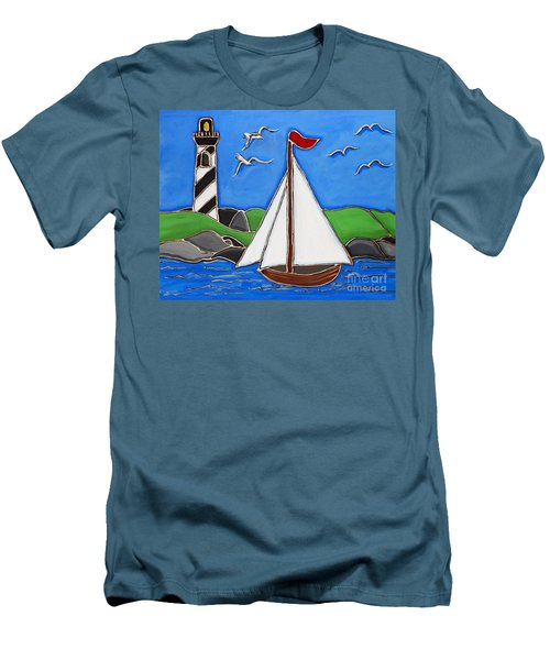 Just Sailing By Men's T-Shirt (Athletic Fit)