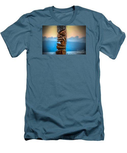 Ka'anapali Tiki Men's T-Shirt (Slim Fit) by Kelly Wade