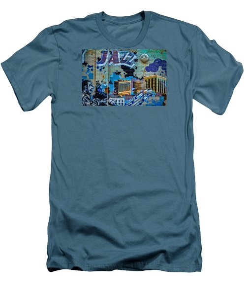 Kansas City Jazz Mural Men's T-Shirt (Athletic Fit)