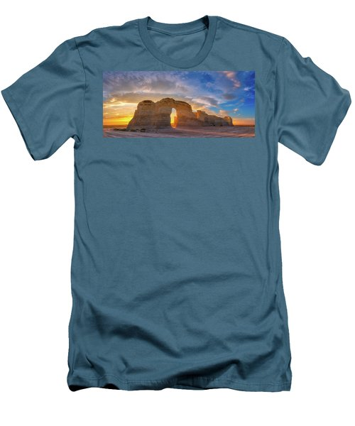 Men's T-Shirt (Athletic Fit) featuring the photograph Kansas Gold by Darren White