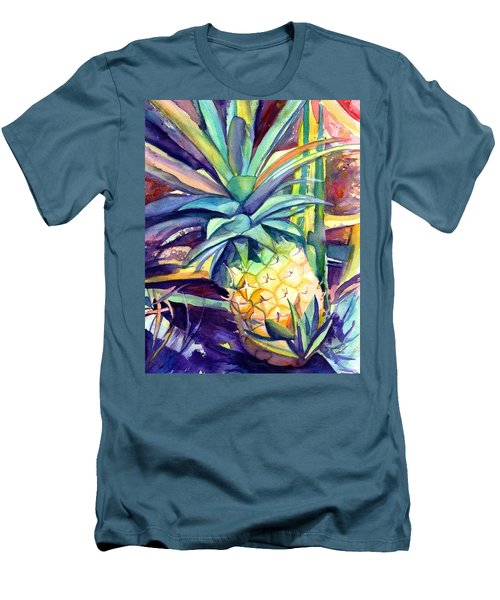 Kauai Pineapple 4 Men's T-Shirt (Athletic Fit)