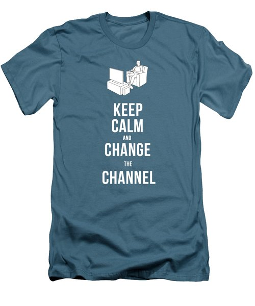 Keep Calm And Change The Channel Tee Men's T-Shirt (Athletic Fit)