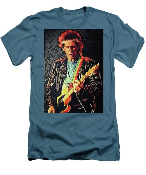 Men's T-Shirt (Athletic Fit) featuring the photograph Keith Richards by Taylan Apukovska