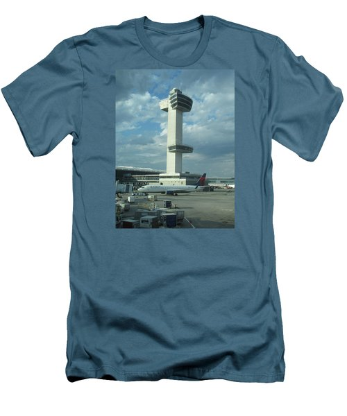 Kennedy Airport Control Tower Men's T-Shirt (Slim Fit) by Christopher Kirby