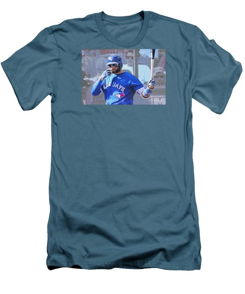 Kevin Pillar At Bat Men's T-Shirt (Slim Fit) by Nina Silver