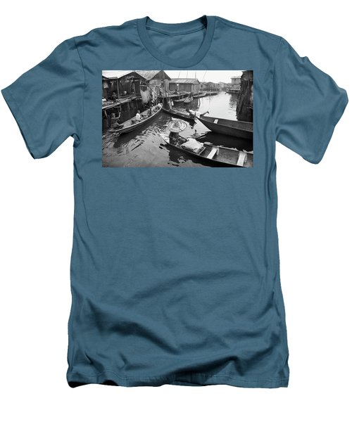 Waterways And Canoes Men's T-Shirt (Athletic Fit)
