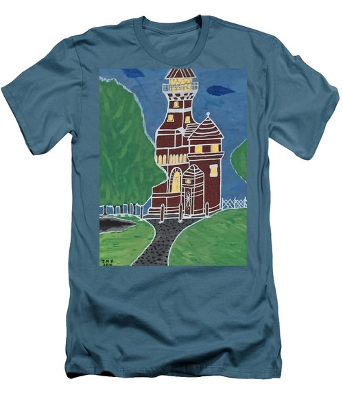 Kiel Germany Lighthouse. Men's T-Shirt (Athletic Fit)