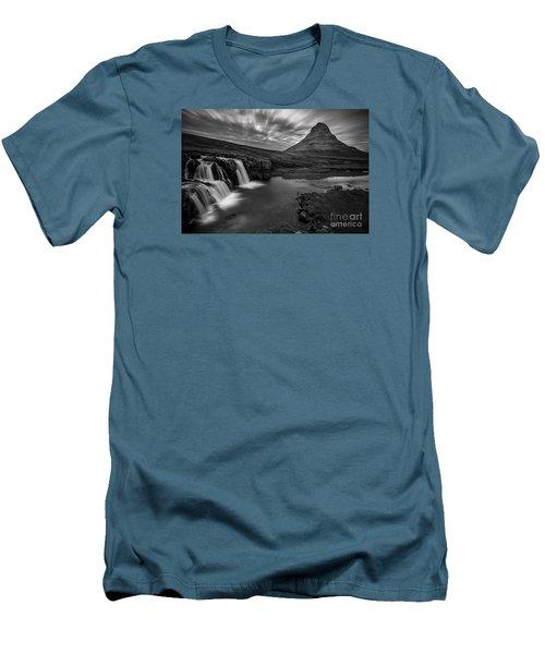 Kirkufellsfoss  Men's T-Shirt (Slim Fit) by Gunnar Orn Arnason