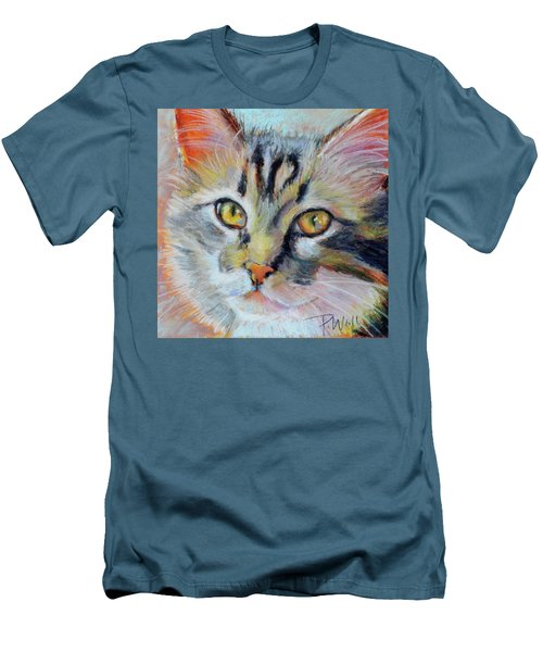 Men's T-Shirt (Slim Fit) featuring the pastel Kitters II by Pattie Wall