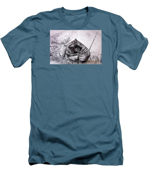 Men's T-Shirt (Slim Fit) featuring the drawing Klotok  by Jason Sentuf