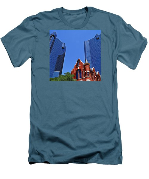 Men's T-Shirt (Slim Fit) featuring the photograph Knights Of Pythias Castle Hall by Kathy Churchman