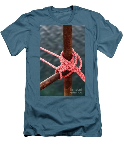 Men's T-Shirt (Slim Fit) featuring the photograph Knot On My Warf IIi by Stephen Mitchell