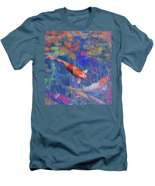Koi Fish Pond Japanese Tea Garden  Men's T-Shirt (Athletic Fit)