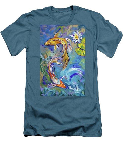 Koi Fish2 Men's T-Shirt (Athletic Fit)