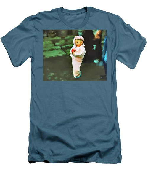 Men's T-Shirt (Slim Fit) featuring the photograph Korean Pink by Dale Stillman