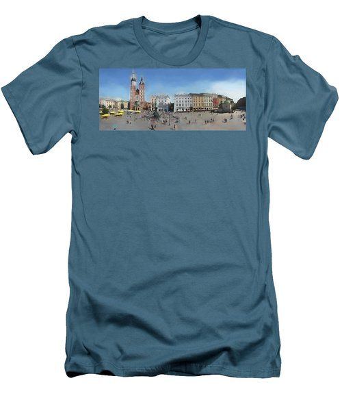 Krakow, Town Square Men's T-Shirt (Athletic Fit)