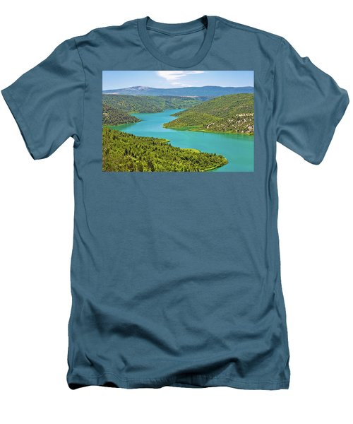 Krka River National Park View Men's T-Shirt (Slim Fit) by Brch Photography