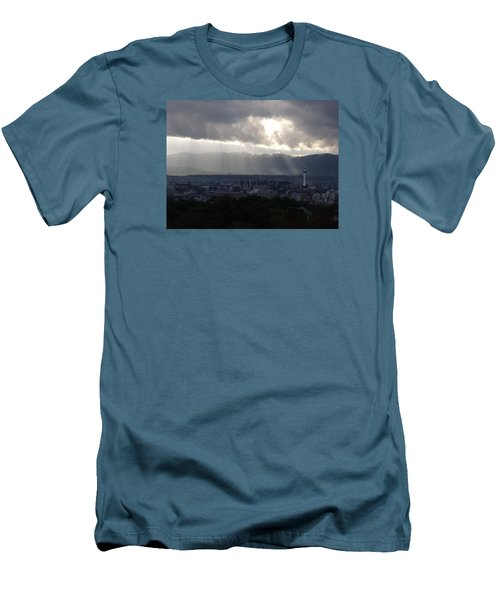 Kyoto Skyline Men's T-Shirt (Slim Fit) by Pete Hall