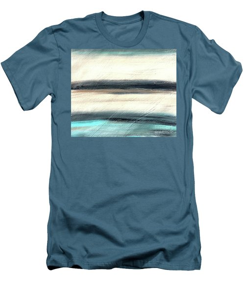 La Jolla #1 Seascape Landscape Original Fine Art Acrylic On Canvas Men's T-Shirt (Athletic Fit)