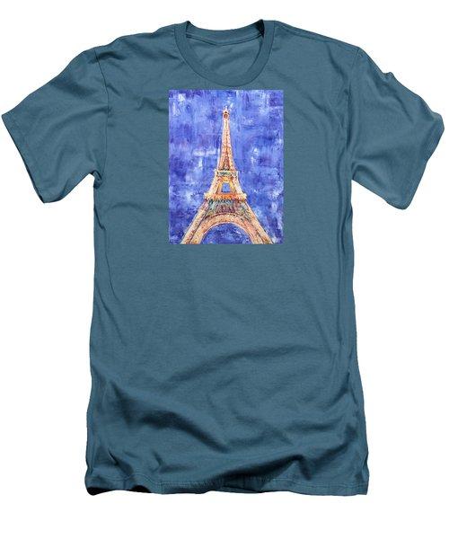 La Tour Eiffel Men's T-Shirt (Slim Fit) by Elizabeth Lock