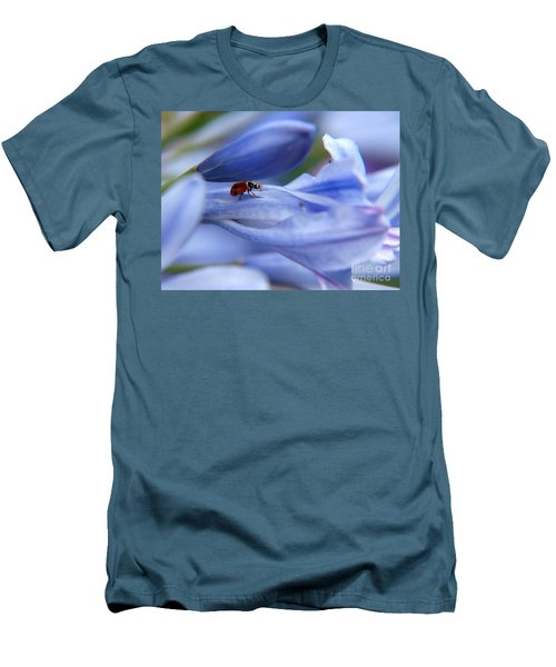 Men's T-Shirt (Slim Fit) featuring the photograph Lady Bug by Trena Mara
